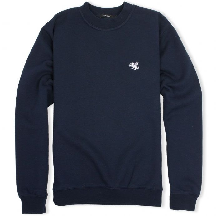Senlak Dragon Sweatshirt in Navy from our range of England and Anglo-Saxon branded clothing